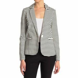 Philosophy   NWT Ivory Black Stripe Blazer Pockets